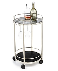 CLOSEOUT! Round Bar Cart, Created for Macy's