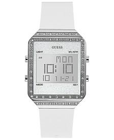 Women's Digital Mini Flare White Silicone Strap Watch 35x47.5mm