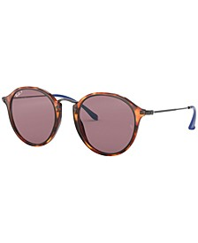 Polarized Sunglasses , RB2447 ROUND FLECK