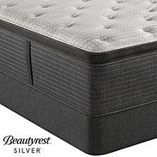 "Beautyrest Silver BRS900C-TSS 16.5"" Luxury Plush Pillow Top Mattress Set - Twin, Created For Macy's"