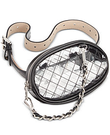 Steve Madden Swag-Chain Clear Belt Bag