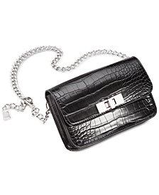 Steve Madden Croc-Embossed Chain Belt Bag