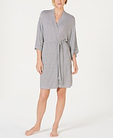 Striped Knit Kimono Robe, Created for Macy's