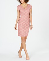 9aa9b006 Connected Sequined Lace Sheath Dress