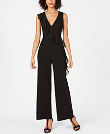 Connected Petite Ruffled Jumpsuit