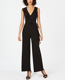 Connected Ruffle-Front Jumpsuit
