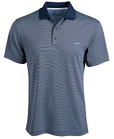 Greg Norman Men's Slim-Fit Jacquard Polo