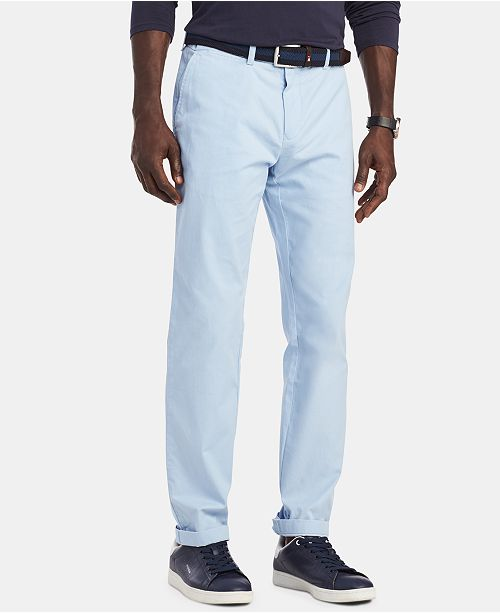 ff35200aa89 ... Tommy Hilfiger Men's TH Flex Stretch Custom-Fit Chino Pant, Created for  Macy's ...