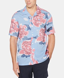 Perry Ellis Men's Rose Graphic Shirt