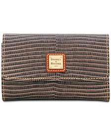 Dooney & Bourke Lizard-Embossed Flap Wallet