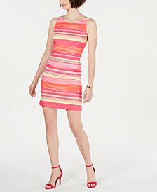 Pappagallo Striped Sleeveless Shift Dress