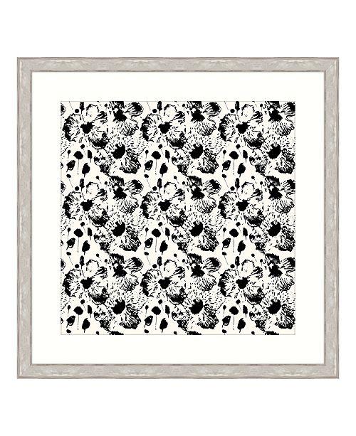 "Melissa Van Hise Ebony Blossoms II Framed Giclee Wall Art - 44"" x 44"" x 2"""