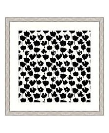 """Ebony Blossoms I Framed Giclee Wall Art - 44"""" x 44"""" x 2"""""""