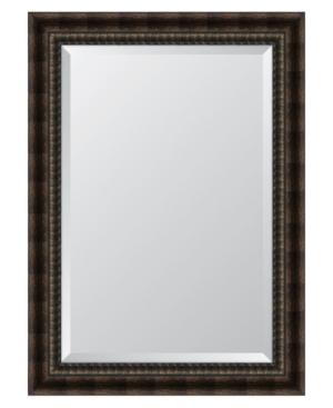 Black and Bronze Acid Wash Framed Mirror - 31.5