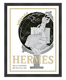 "Hermes Paris Voyage Framed Giclee Wall Art - 33"" x 43"" x 2"""