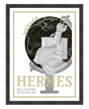 Hermes Paris Voyage Framed Giclee Wall Art - 33