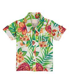 Masala Baby Boys Neat Shirt Flamingo Island