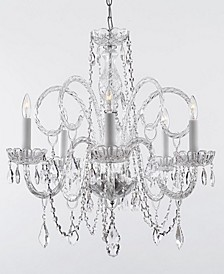 Empress Crystal 5-Light Chandelier Trimmed with Swarovski Crystal