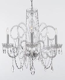 Empress Crystal 5-Light Chandelier Trimmed with Swarovski Crystal