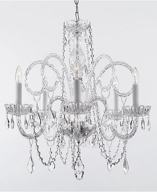 Harrison Lane Empress Crystal 5-Light Chandelier Trimmed with Swarovski Crystal