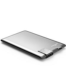 Power Card 1300mAh Ultra Thin Brush Aluminum Charger