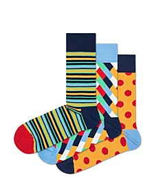 Happy Socks Assorted Big Dot 3-Pack Socks
