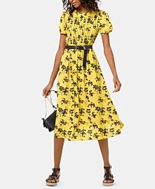 3fa98a76def MICHAEL Michael Kors Botanical Tucked-Front Dress