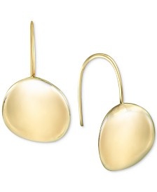 Argento Vivo Polished Disc Drop Earrings