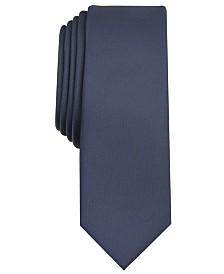 I.N.C. Men's Diamond Solid Skinny Tie, Created for Macy's