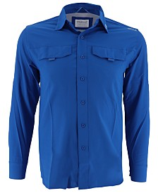 Gillz Men's Saltwater Performance Stretch Moisture-Wicking Shirt