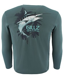 Gillz Men's Marlin Logo Graphic Moisture-Wicking UV T-Shirt