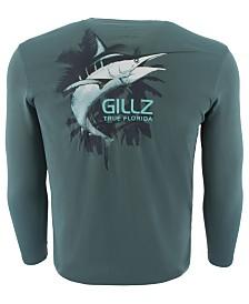 Gillz Men's Marlin Logo Graphic Moisture-Wicking UV T-Shirt