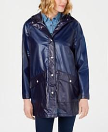 Tommy Hilfiger Sheer Polka Dot Slicker Raincoat