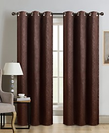 "Sun+Block Thermal Weave Embossed Blackout Grommet Single Curtain Panel 42""x84"""