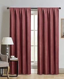 "Silk+Home Foam Back Blackout Rod Pocket Single Curtain 52""x84"""