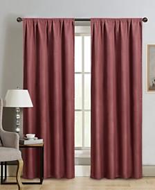 "Silk+Home Foam Back Blackout Rod Pocket Single Curtain 52""x84"""
