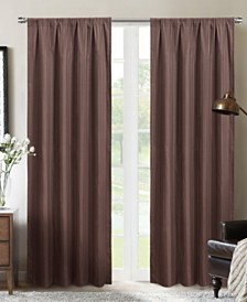 "Silk+Home Foam Back Blackout Rod Pocket Curtain Panel Pair 52""x84"""