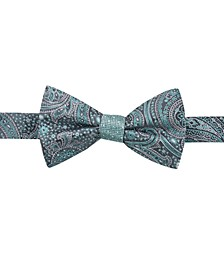Men's Paisley Dot Reversible Pre-Tied Silk Bow Tie, Created for Macy's