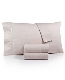 Hotel Collections Textured Prism Cotton 525-Thread Count 4-Pc. King Sheet Set, Created for Macy's