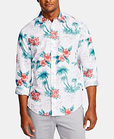 Men's Classic Fit Floral Shirt, Created for Macy's