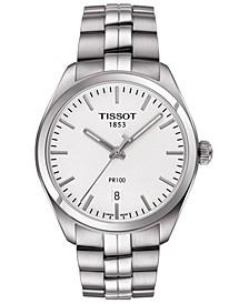 Men's Swiss T-Classic PR 100 Stainless Steel Bracelet Watch 39mm
