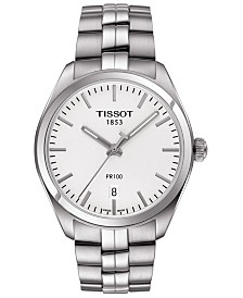 Tissot Men's Swiss T-Classic PR 100 Stainless Steel Bracelet Watch 39mm