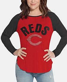 Touch by Alyssa Milano Women's Cincinnati Reds Long Sleeve Touch T-Shirt