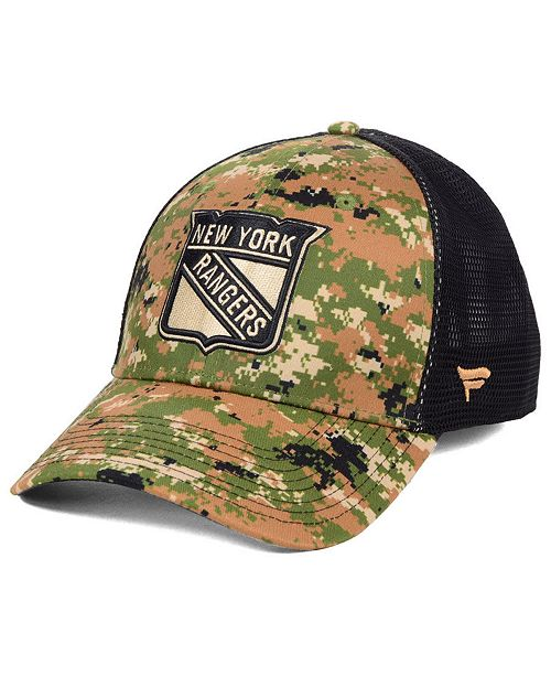 Authentic NHL Headwear New York Rangers Military Appreciation Speed Flex Stretch Fitted Cap