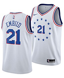 Joel Embiid Philadelphia 76ers Earned Edition Swingman Jersey, Big Boys (8-20)