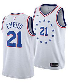 Nike Joel Embiid Philadelphia 76ers Earned Edition Swingman Jersey, Big Boys (8-20)