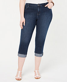Style & Co Plus Size Cotton Capri Jeans, Created for Macy's