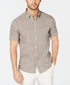 Michael Kors Men's Cross-Dye Linen Shirt