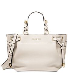 MICHAEL Michael Kors Greta Pebble Leather Satchel