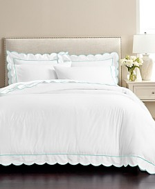 CLOSEOUT! Martha Stewart Signature Scallop 3-Pc. King Duvet Sets, Created for Macy's